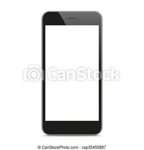 Black Smartphone Mockup - csp35455887