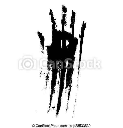Black smeared handprint - csp28533530