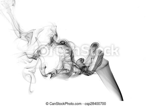 Black smoke on a white background - csp28400700