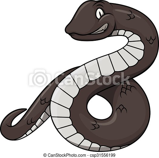 Black snake cartoon - csp31556199