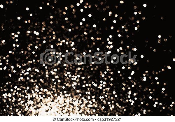 black sparkling bokeh background - csp31927321