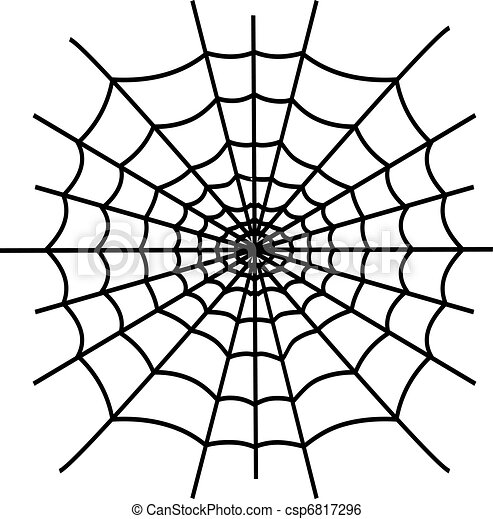 black spiderweb isolated on white background clip art vector rh canstockphoto com spider web vector eps spider web vector free download