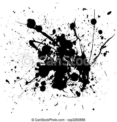 black splat ink - csp3260886