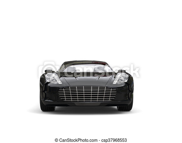 Black Sports Car   Front View   Csp37968553