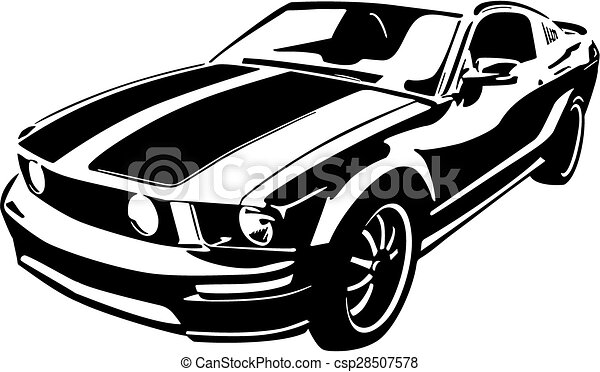 Black sports car vector ilustration .
