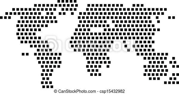 black square world map csp15432982