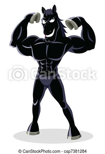 Black Stallion - csp7381284