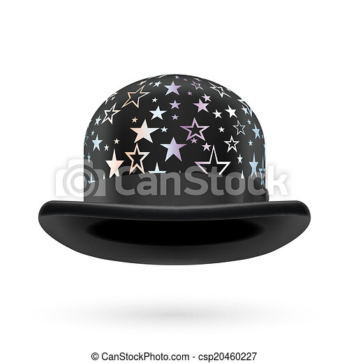 Black starred bowler hat - csp20460227