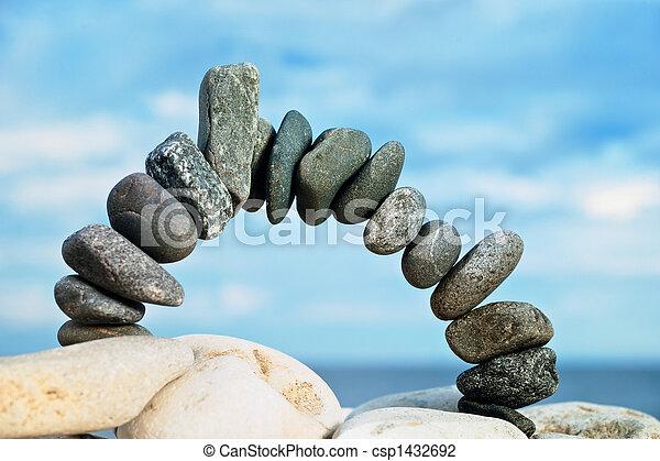 Black stone arch - csp1432692