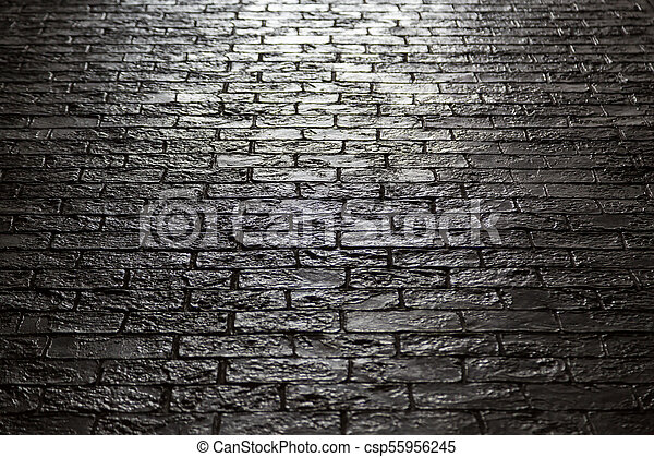 Black Stone Floor With Backlight