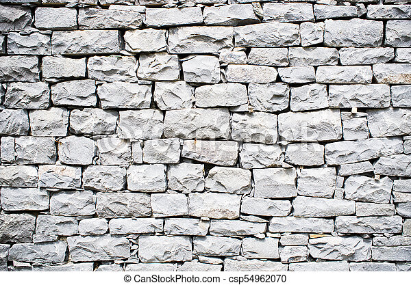 Black stone wall - csp54962070