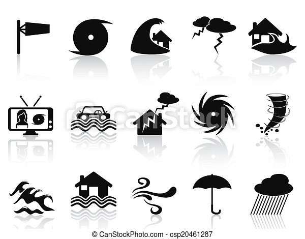 black storm icons set - csp20461287