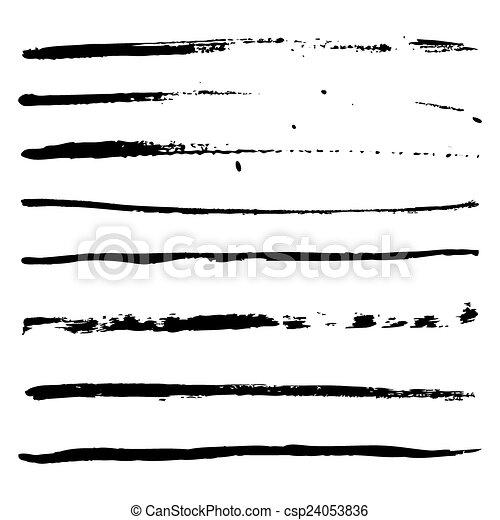black strokes of paint - csp24053836