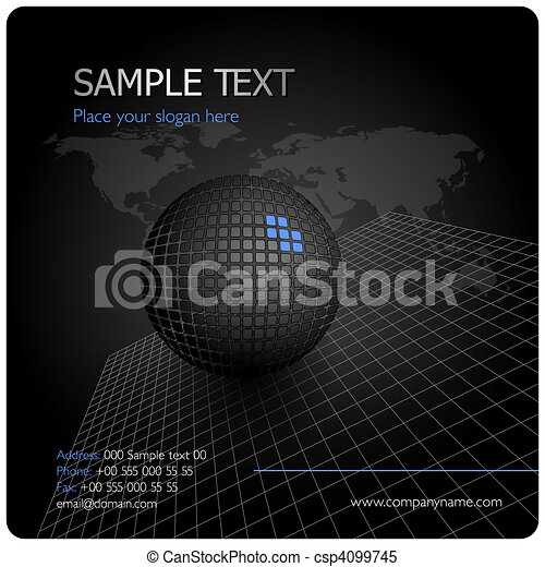 Black stylish corporate design - csp4099745