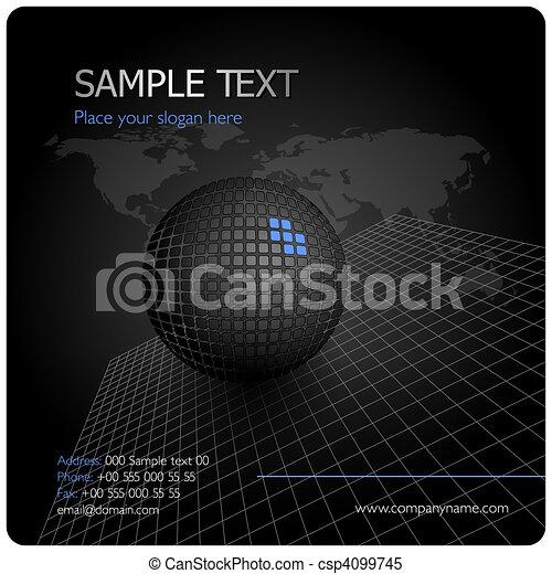 Black stylish corporate design - csp4099745
