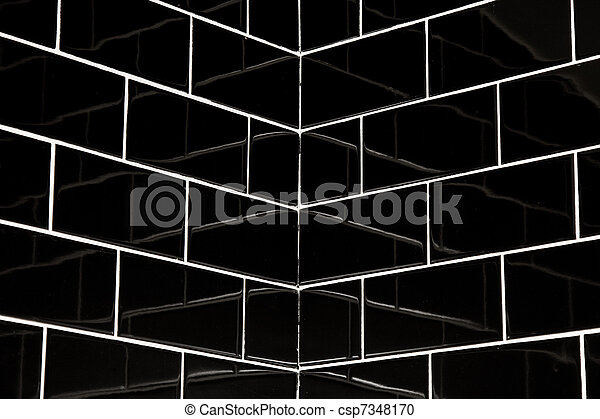 black subway tiles csp7348170