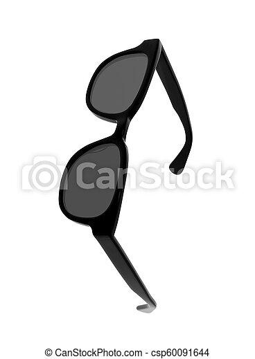 Black sunglasses isolated - csp60091644
