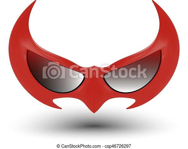 black super hero mask - csp46726297