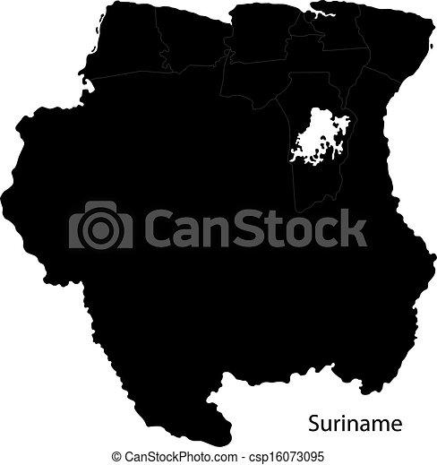 Black Suriname map - csp16073095