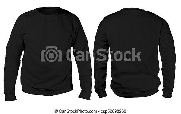 black sweater long sleeved shirt mockup template blank sweatshirt mock up template front and. Black Bedroom Furniture Sets. Home Design Ideas