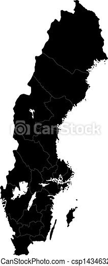 Black Sweden map - csp14346322
