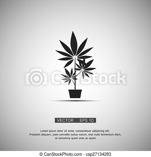 Black Symbol Marijuana Vector Eps 10 Black Symbol Growing