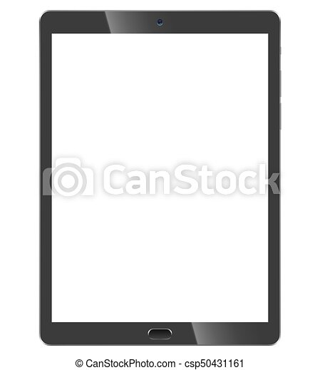 Black tablet pc front view - csp50431161