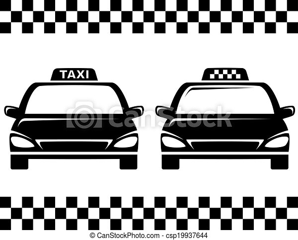 black taxi cars black taxi car silhouettes on white. Black Bedroom Furniture Sets. Home Design Ideas