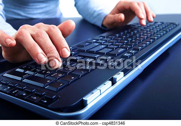black , toetsenbord - csp4831346