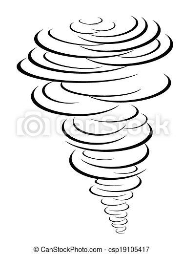 black tornado symbol - csp19105417