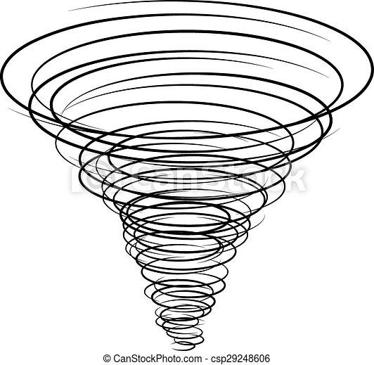 black tornado symbol - csp29248606