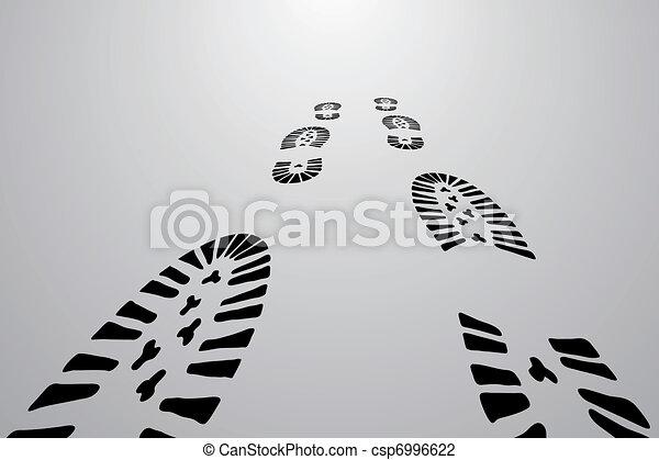 Black traces of feet  - csp6996622