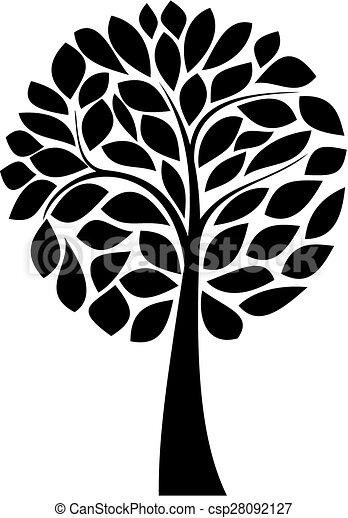 Black Tree Silhouette Simple Black Tree Silhouette On
