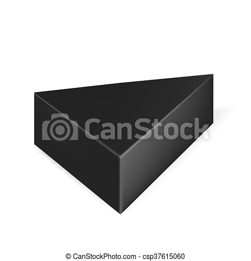 Vector packaging black triangle packaging box on isolated white vector packaging black triangle packaging box on isolated white background mock up template ready for design maxwellsz