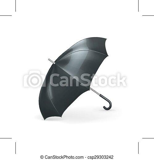 Black umbrella illustration - csp29303242