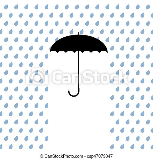 black umbrella protects from rain - csp47073047