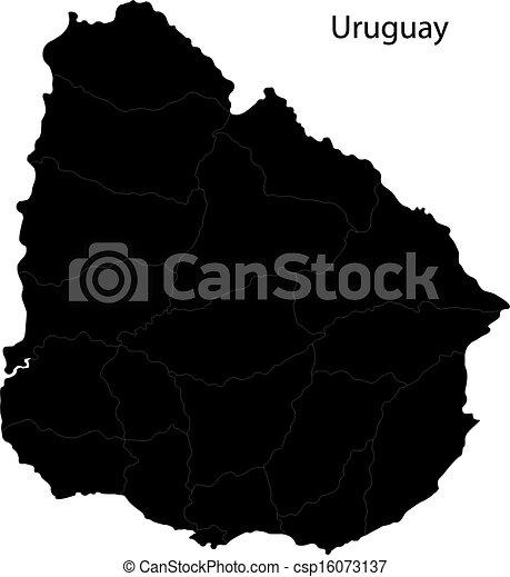 Black Uruguay map - csp16073137