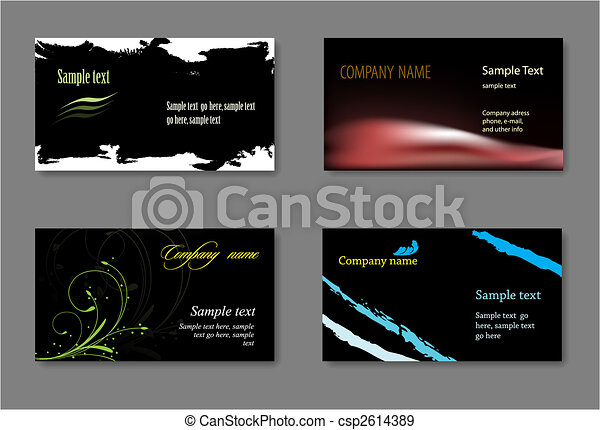 Black vector business card template eps vectors search clip art black vector business card template accmission Gallery