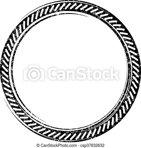 Black vector grunge template  for rubber stamp - csp37632632