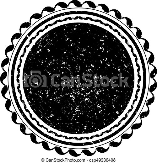 Black vector grunge template for rubber stamp - csp49336408