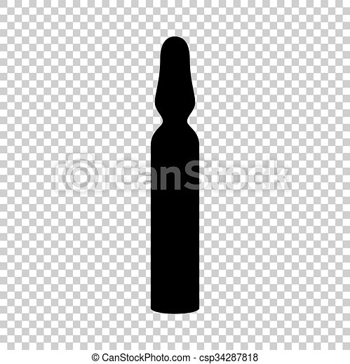 Black vector icon isolated on transparent background - csp34287818