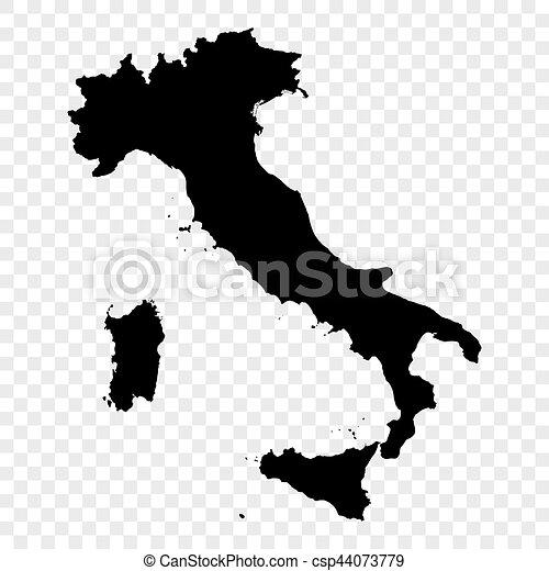 Black Vector Italy map - csp44073779