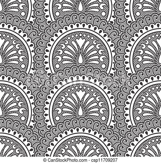 Black vector seamless wallpaper - csp11709207