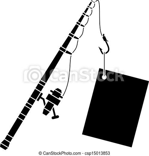 black , vector, staaf, visserij, etiket - csp15013853