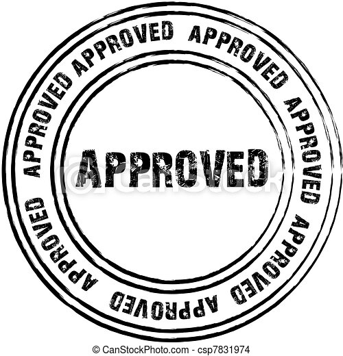 Black vector stamp for approved - csp7831974