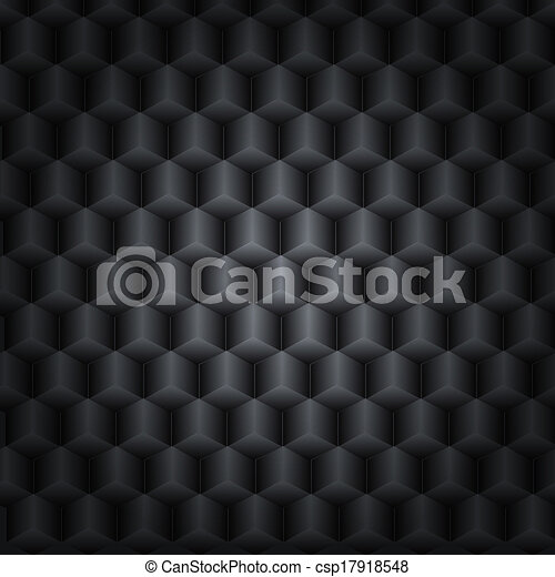 Black vector technology background with 3D effect for your design - csp17918548