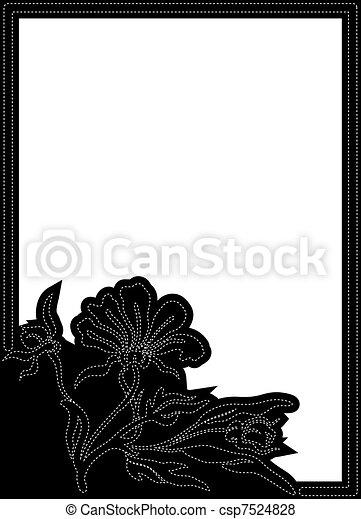 Black vertical frame - csp7524828