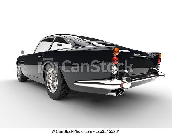 Black vintage car - taillights