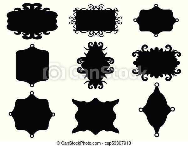 black vintage frame set - csp53307913