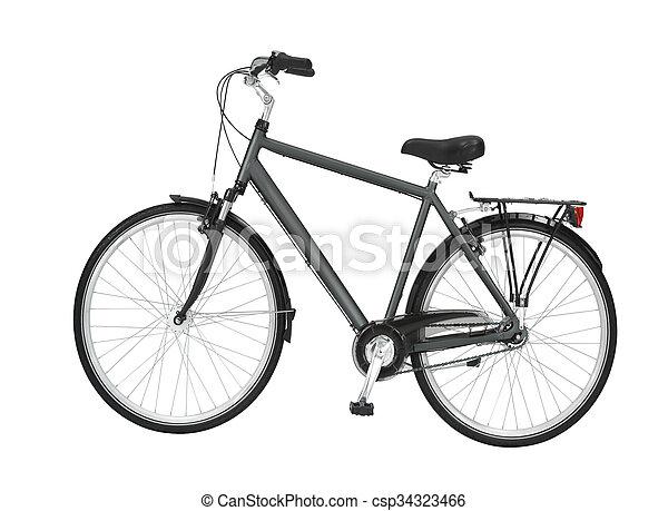 0537dada01d Black vintage road bike isolated.